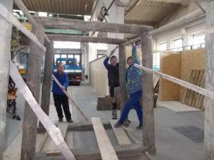 """Aufbau einer """"Tiefbaustrecke"""" in der Pfännerhall"""