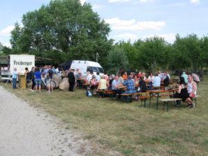 Bergmannsfest auf der Halbinsel im Geiseltalsee