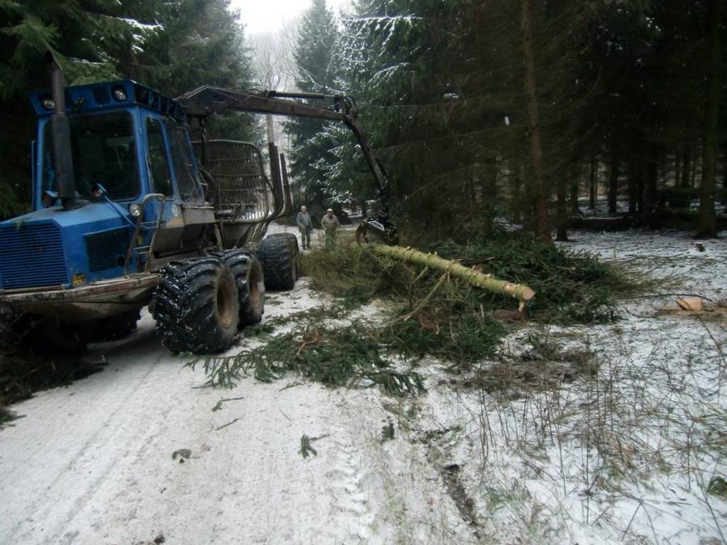 Hilfe durch Forsttechnik