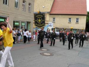 Festumzug in Bad Lauchstädt 01.08.10 Marschblock des IFV