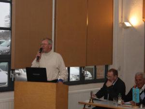 Unser Vorsitzender Herr Reinhard Hirsch beim Vortrag des Jahresberichtes