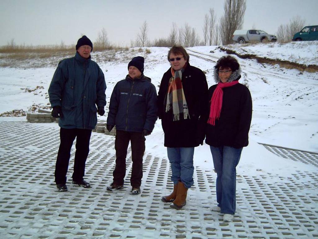 Einsatzstab mit den Herren Hirsch, Eldau, Karge und Frau Wawra
