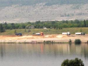 Arbeiten zur Ufersicherung