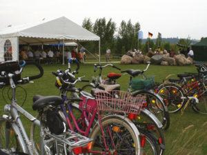 Viele Gäste waren mit dem Fahrrad gekommen