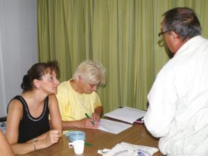 Das Organisationsbüro mit Frau Stadler und Frau Erdmann